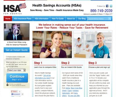 Health Insurance for Health Savings Accounts - HSA for America