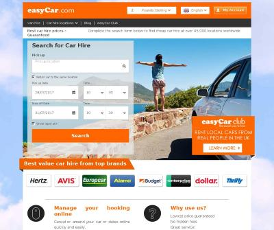 Easycar - Low cost car rental online