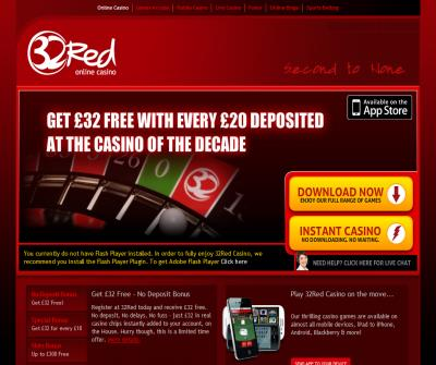 32red - Play your favourite Internet casinos games