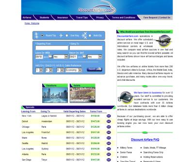 Airline Tickets - Low Airfares - Discount Airfare