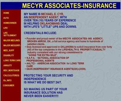 MECYR ASSOCIATES INSURANCE- A FREE LIFE/HEALTH INSURANCE QUOTE SERVICE(OK)