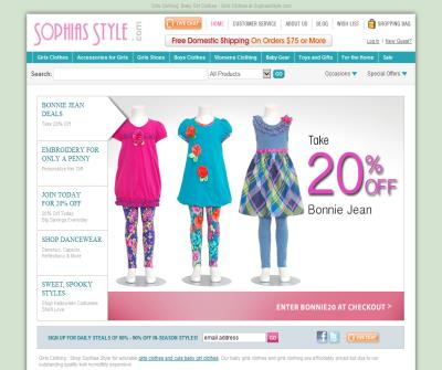 online store for baby clothes, girl's clothing and baby shower gift sets.