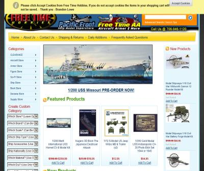 Free Time & Trident Hobbies Ship Models Plastic Resin Military Models