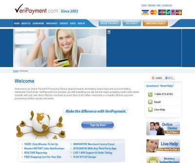 VeriPayment.com - Offshore Merchant Account, Credit Card Processing