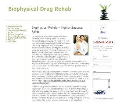 Biophysical Drug Rehab Treatment Programs
