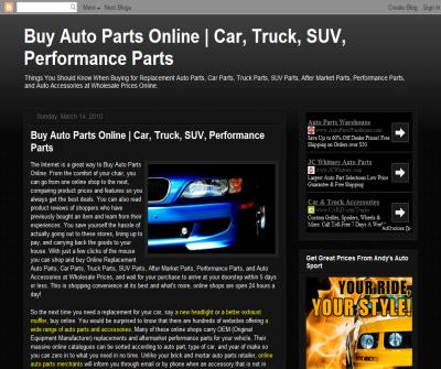The Internet is a Great Way to Buy Auto Parts Online