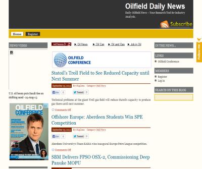 Oilfield daily news