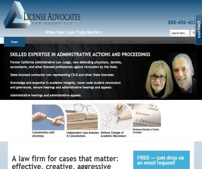 License Advocates: Specialists in defending California occupational licensees and license applicants