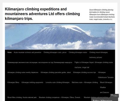 Mount Kilimanjaro Expeditions, Tanzania
