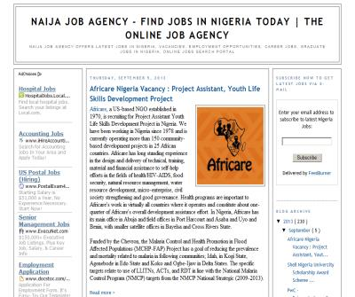 Naijajobagency- Nigeria Jobs, Vacancies, Employment  Nigeria