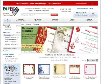 Classic Christmas Postcards - PaperDirect