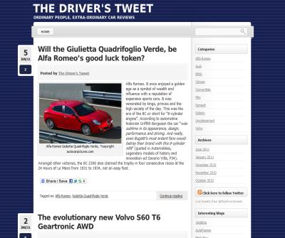 The Driver's Tweet, car reviews