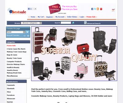Ebestsale - Cosmetic Makeup Cases, Beauty Products, Laptop Bags, CD DVD Holders