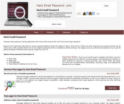 hacking email password