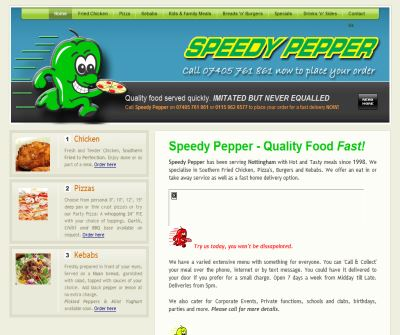 Speedy Pepper Southern Fried Chicken