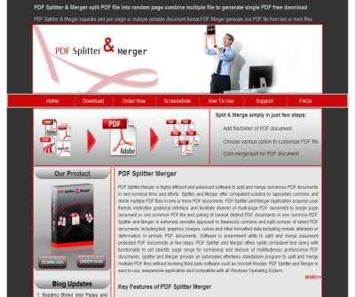 PDF Splitter and Merger