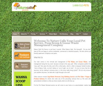 Nature Calls Pet Service offers dog walking, pet home care, pet sitter and pet waste removal service