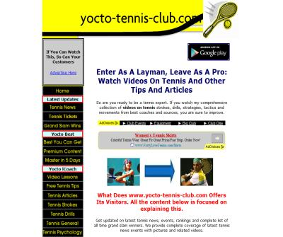 Tennis Coaching Tips, Videos, Articles And Rackets, Books, Equipment Store