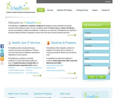 Prohealthware - Healthcare IT Services | Healthcare IT Solutions