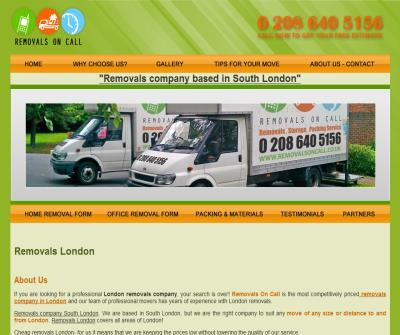 REMOVALS ON CALL - Removals London, Removal Company, Moving Company, House & Office Removals, London Removals
