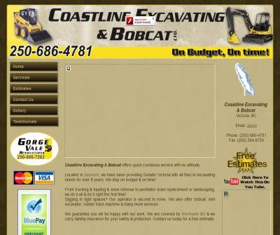 Coastline Excavating & Bobcat Victoria BC