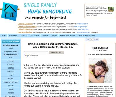 Single Family Home Remodeling