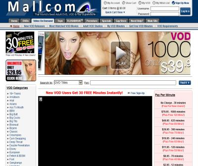 Adult VOD Movies, Video On Demand, Pay per Minutes @ Mallcom VOD