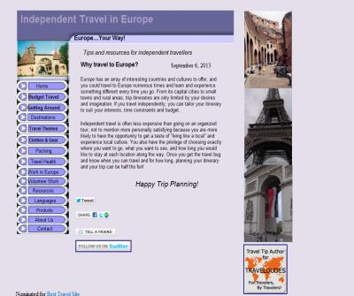 Independent Travel In Europe