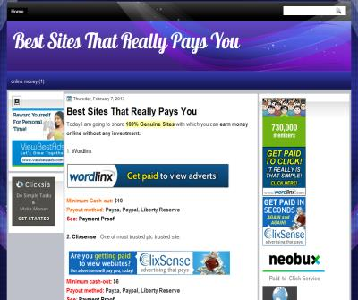 WEBSITES FOR MONEY AND PRODUCTS