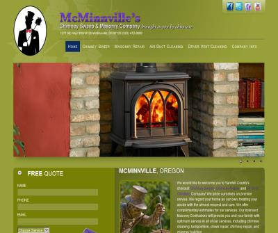 Chimney Sweep, Masonry Repair for McMinnville Oregon and surrounding areas