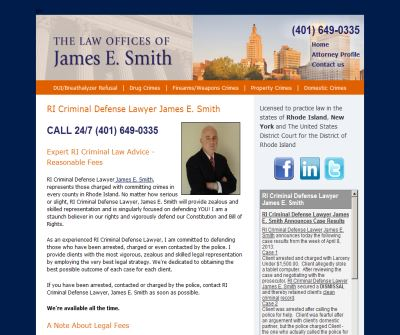Rhode Island (RI) Criminal Defense Lawyer, Law Offices James E. Smith