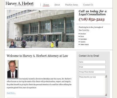 Harvey A. Herbert Attorney At Law - Brooklyn Lawyer - Best criminal,divorce,accident,injury,maplractice,defense,family law attorney