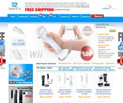 Remote and Nunchuck Controller Wholesale for Nintendo Wii