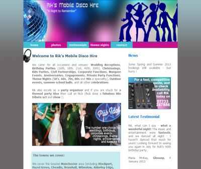Rik's Wedding Disco DJ Hire Manchester Cheshire