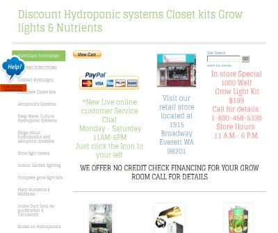 Hydroponic systems and indoor garden supplies Grow lights