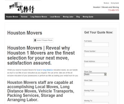 Houston 1 Movers and Moving