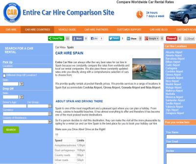 Spain Car Hire - Airport Car Hire in Spain -Truly Compare Car Rental in Spain