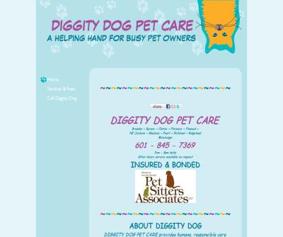 DIGGITY DOG PET CARE - A Helping Hand For Busy Pet Owners