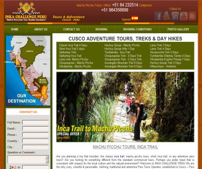 inca trail, tours to machu picchu, salkantay trek