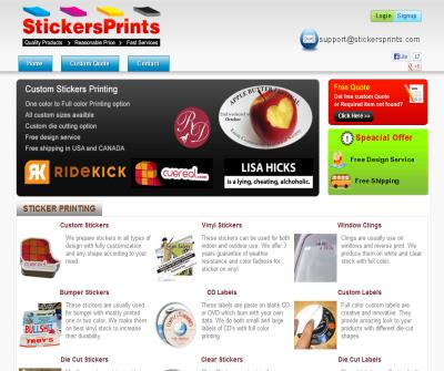 Stickers Printing, Vinyl Sticker, Custom Die Cut Stickers, Cheap Decal Print