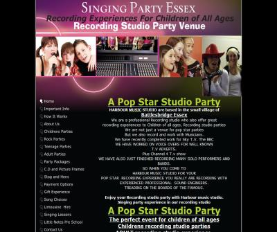 Recording studio Singing Party