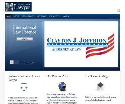 Clayton Joffrion, Global Trade Lawyer
