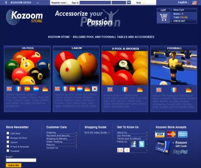 Kozoom Store - Billiard, Pool, Foosball and Table Soccer Accessories