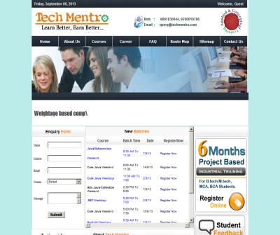 Java/J2EE Training Institute | .Net Training Institute | PHP Training Institute | Leading IT Training and Educational Institute of Noida: Tech Mentro