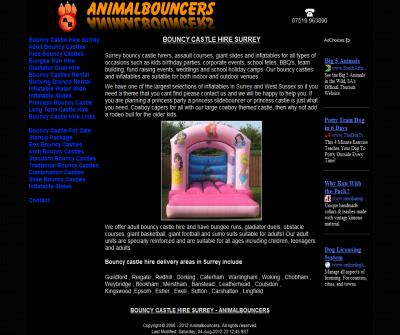 Bouncy castle hire Surrey from Animalbouncers