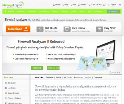 Firewall Log Analysis & Reporting Software