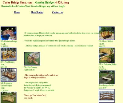 Garden Bridges 4-52ft. long