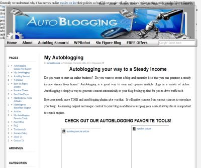 Autoblogging your way to a Steady Income Stream