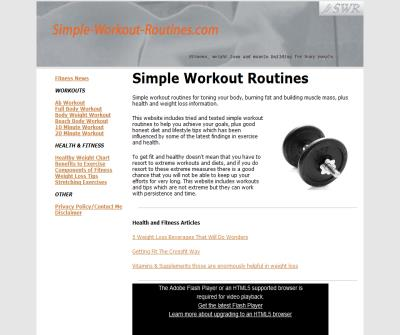 Simple workout routines