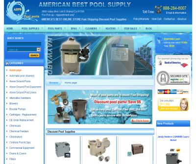 Discount swimming pool supplies
